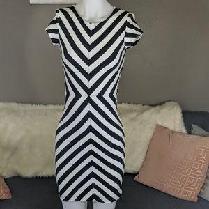 Arden B || Striped Bodycon Dress